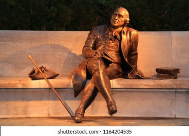 WASHINGTON, D.C. – APRIL 16: The George Mason Memorial honors George Mason, author of the Virginia Declaration of Rights that inspired the U.S. Bill of Rights April 16, 2018 in Washington, D.C.