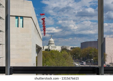 Washington, DC - April 26, 2014: Views from the Newseum