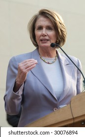 WASHINGTON, DC - APRIL 28, 2009: Speaker of the House Nancy Pelosi addresses a congressional rally on Capitol Hill during Sojourners' Mobilization to End Poverty conference.