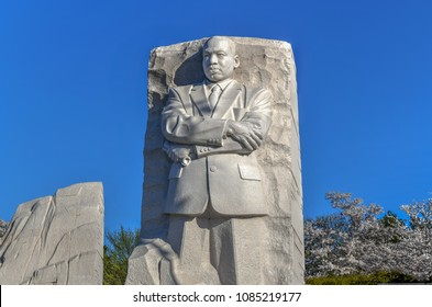 Washington, DC - April 8, 2018: The memorial to the civil rights leader Martin Luther King, Jr. during the spring season in West Potomac Park.