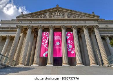 Washington, DC - April 8, 2018: The National Archives Building in Washington DC, USA