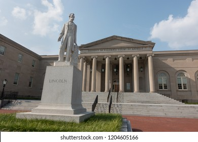 WASHINGTON, DC - AUG 31, 2018: DC Court of Appeals building, highest court for DC (Not to be confused with the United States Court of Appeals for the District of Columbia Circuit.)