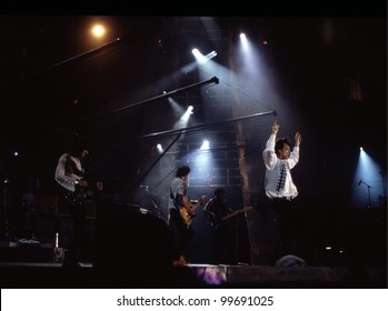 WASHINGTON, D.C. - AUG 4: The Rolling Stones in concert at RFK stadium during the Steel Wheels Tour in Washington, D.C., on Thursday, August 4, 1994.