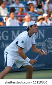 WASHINGTON, D.C. - AUGUST 13, 2008:  Tommy Haas (GER) defeats Nicolas Mahut (FRA, not pictured) at the Legg Mason Tennis Classic.