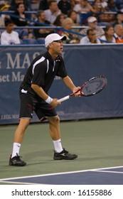 WASHINGTON, D.C. - AUGUST 13, 2008:  Dudi Sela (ISR) loses to Juan Martin Del Potro (ARG, not pictured) at the Legg Mason Tennis Classic