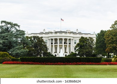 WASHINGTON, DC - AUGUST 13: The White House in Washington DC on August 13 2013. This one of the most recognizable buildings has been the official residence of every President of the USA since 1800