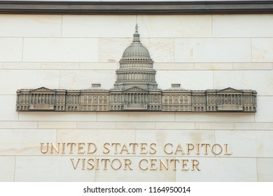 WASHINGTON, DC - AUGUST 19, 2017: United States Capitol Visitor Center provides guided tours of the U.S. Capitol building.
