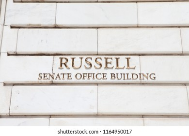 WASHINGTON, DC - AUGUST 19, 2017: The Russell Senate Office Building was named for former Senator Richard Russell Jr. in 1972.
