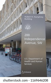 WASHINGTON, DC - AUGUST 23, 2018:  The stated mission of the U.S. Department of Health & Human Services is to enhance and protect the health and well-being of all Americans.