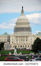 WASHINGTON, DC - AUGUST 24, 2014: The United States Capitol which is located on the eastern side of the National Mall and is the seat of the US Congress.