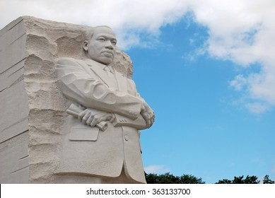 WASHINGTON, DC - AUGUST 24, 2014: Martin Luther King, Jr. statue located in West Potomac Park. The memorial is in honor of Dr. King, a civil rights leader.