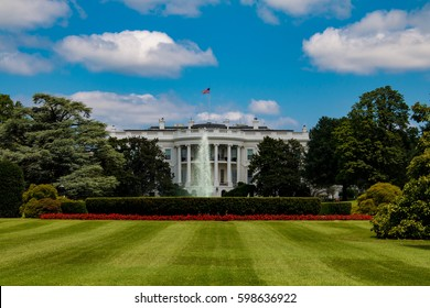 WASHINGTON D.C. - AUGUST 3, 2016 - The White House is the official residence and principal workplace of the President of the United States, located at 1600 Pennsylvania Avenue NW in Washington, D.C.