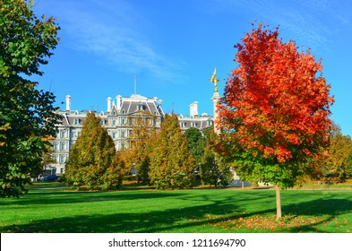Washington DC in autumn colors - Eisenhower Executive Building