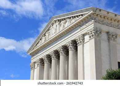 Washington DC, capital city of the United States. US Supreme Court building.