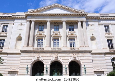 Washington DC, capital city of the United States. Government building - Russell Senate Office Building.