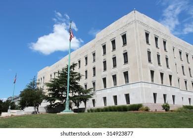 Washington DC, capital city of the United States. Library of Congress - John Adams building.