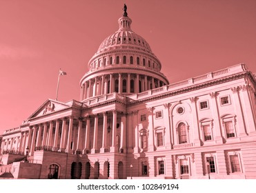 Washington DC , Capitol Building, United States of America, Sephia - Deep Red