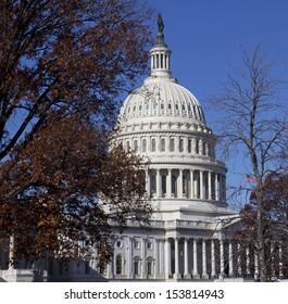 Washington DC , Capitol Building - US, in autumn