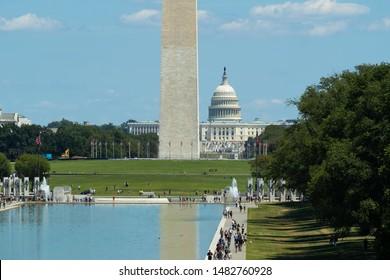 WASHINGTON DC - CIRCA AUGUST 2019: Washington Monument