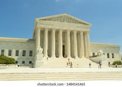 WASHINGTON DC - CIRCA AUGUST 2019: US Supreme Court