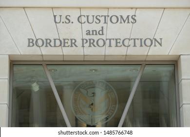 WASHINGTON DC - CIRCA AUGUST 2019: US Customs and Border Protection