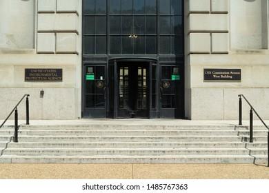 WASHINGTON DC - CIRCA AUGUST 2019: EPA Environmental Protection Agency