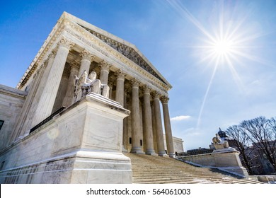 WASHINGTON DC - CIRCA MARCH 2015: The Supreme Court of the United States is located in Washington DC just a short distance away from the Capitol building.