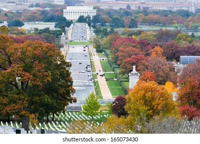 Washington DC city view in Autumn - United States