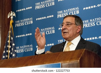 WASHINGTON, DC - DEC. 18: Secretary of Defense Leon Panetta addresses a luncheon at the National Press Club, December 18, 2012 in Washington, DC