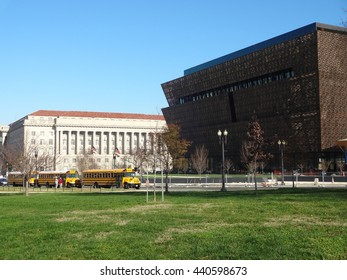 WASHINGTON, DC - DECEMBER 2015: National Museum of African American History and Culture on the National Mall