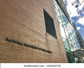 WASHINGTON, DC - DECEMBER 21, 2018: The National Association of Home Builders (NAHB) headquarters building. The NAHB is a large trade association representing various members of the housing industry.