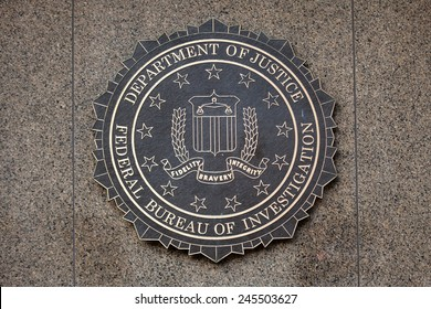 WASHINGTON, DC - DECEMBER 26: F.B.I. seal located outside the J. Edgar Hoover F.B.I. Building in downtown Washington, DC on December 26, 2014.