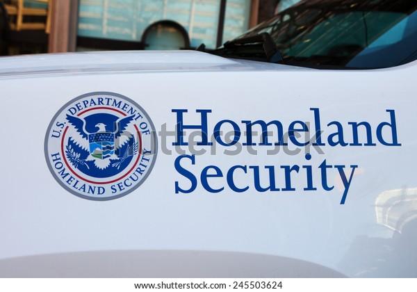 WASHINGTON, DC - DECEMBER 26: Homeland Security Police car in Washington, DC on December 26, 2014.