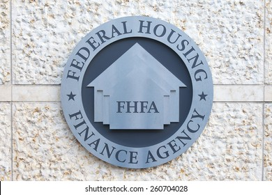 WASHINGTON, DC - DECEMBER 26: Seal of the Federal Housing Finance Agency in downtown Washington, DC on December 26, 2014. One of FHFAâ??s responsibilities is to regulate Fannie Mae and Freddie Mac.