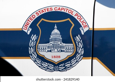 WASHINGTON, DC - DECEMBER 26: United States Capitol Police car in Washington, DC on December 26, 2014.
