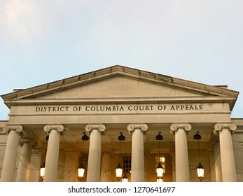 WASHINGTON, DC - DECEMBER 30, 2018: District of Columbia Court of Appeals courthouse building.