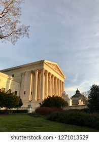 WASHINGTON, DC - DECEMBER 30, 2018: US Supreme Court building at sunset.