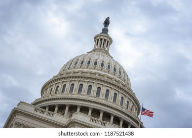 Washington DC, District of Columbia / United States - October 22 2018: United States Capitol Building