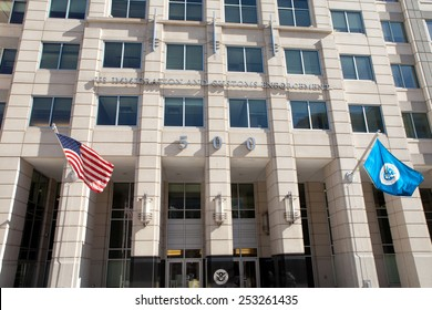 WASHINGTON, DC - FEBRUARY 15: U.S. Immigration and Customs Enforcement Headquarters in Washington, DC on February 15, 2015.