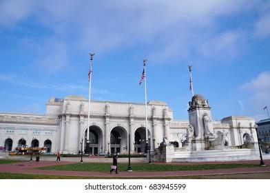 Washington, D.C. - February 17, 2016: Washington, D.C. Union station on February 17, 2016.
