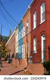 Washington DC - Historical Georgetown townhouses street