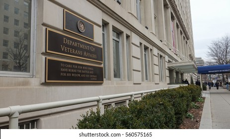 WASHINGTON, DC - JAN. 20, 2017: Department of Veterans Affairs headquarters building. The VA is cabinet-level department responsible for administering  programs for military veterans & their families