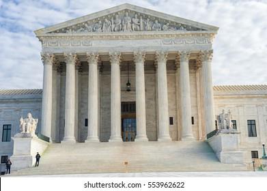 WASHINGTON, D.C. - JANUARY 10, 2014: Supreme Court of the United States
