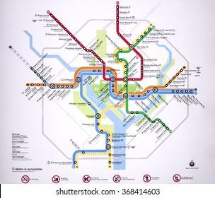 WASHINGTON DC. JANUARY 15 2016. Interactive Map Washington, DC.