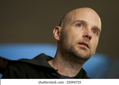 WASHINGTON, DC - JANUARY 19: Recording artist Moby (Richard Melville Hall) speaks during an interview with Sojourners magazine on January 19, 2009  between two all-night shows celebrating the Obama inauguration.