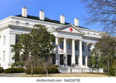 Washington, DC - JANUARY 21, 2014: American Red Cross Headquarters. It was constructed between 1915 and 1917. The building was declared a National Historic Landmark in 1965.