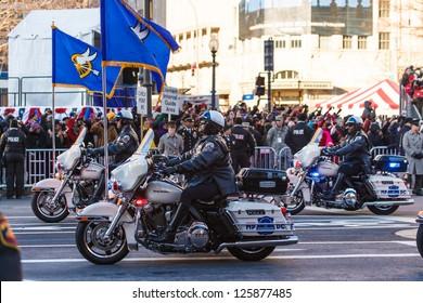 WASHINGTON DC - JANUARY 21:Scene from Washington DC during the President Barack Obama Inauguration on January 21 2013 Obama is 44th president of USA and serves second term, it was 47th Inauguration