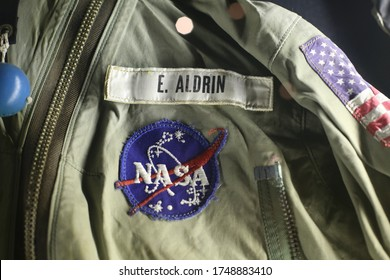 Washington D.C. - January 31 2014: The historic space work suit of Edwin 'Buzz' Aldin in Washington's Smithsonian Museum