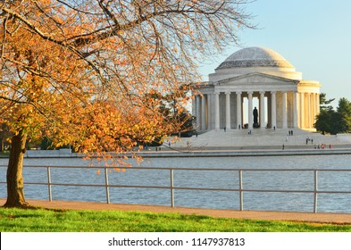 Washington DC - Jefferson Memorial in autumn colors