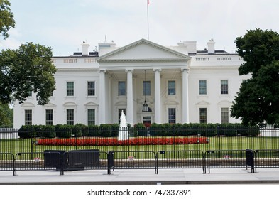 Washington D.C., July 17, 2017:  The White House under higher security. July 17, 2017, Washington D.C. USA